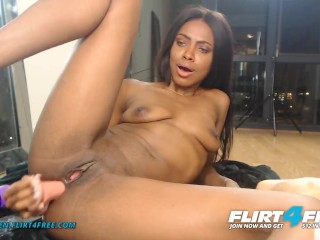 Anya Ren on Flirt4Free - small dark-hued honey w small puffy jugs fake sausages bootie