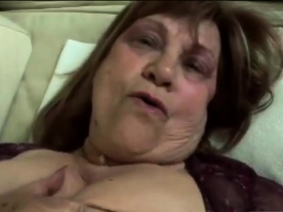 Plump grannie honey is getting gonzo poked by a huge salami.
