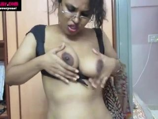 Finest Indian Tamil Maid crazy Lily filthy talk in Hindi fap off command