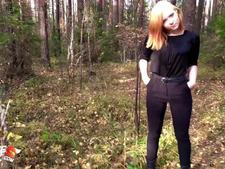 Teen Public sucky-sucky chisel beau and rough sex in the Wood