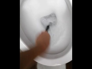 A fantastic cleaner having fuck-fest with the rest room