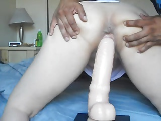 Chinese wife being trained and loving it