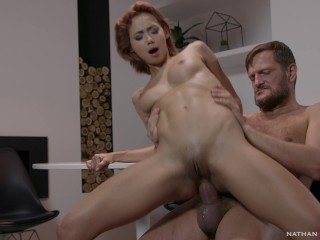 Super hot diminutive Latina Veronica Leal donk pulverized by Ian Scott gigantic dinky