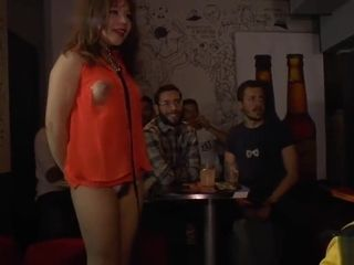 Chinese marionette sucking in public pub