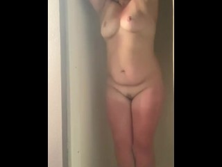 Shower time soapy part 2 with some finger-banging ...