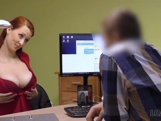 Busty red-haired cougar Wants Her Loan