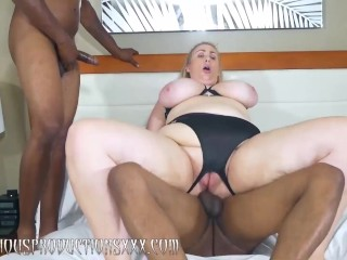 LILA LOVELY'S 1ST big black cock gang-fuck
