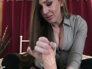 Mommy's Gloved jacking sesh #2 - Taboo cougar Kristi Gloved palm job point of view