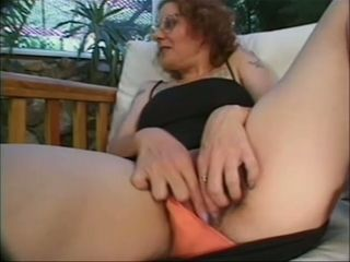 Curly tatted MILFie housewife provides her neighbor's fuckpole with a oral