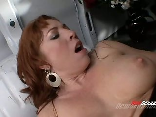 Yummy redhead filth Brittany Oconnell gets fucked in mish style hard