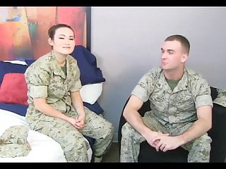 Chinese marine gal with mommy