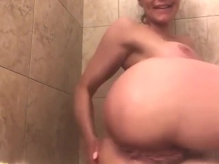 Kendra cougar With giant faux jugs shower joy by WhiteWolfPL
