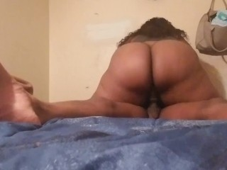 Plus-size dirty dances AND CREAMS ALL OVER HUSBAND'S big black cock