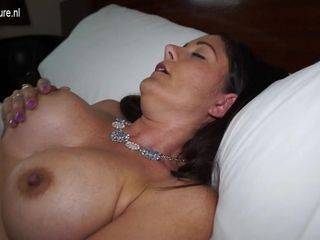 Wondrous  brit Housewife Plays With Her bald cooter - MatureNL