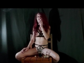 Jizzabelle garbage powerful chain smoking + coughing + salivating