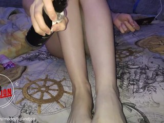 Sole worship. Super-fucking-hot beautiful blond.Step mssage. Soles Fetish, nubile gams.60FPS