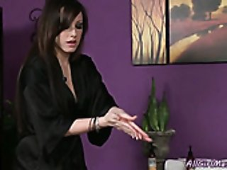 Buxom brunette mom wishes to lick sweet vag of her blond babe