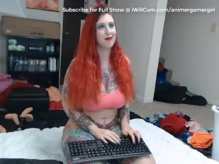 Tattooed goth gigantic donk white nymph With 32H bosoms cream climaxes on Mechanical fake dinky
