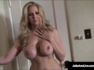 """""""Ultimate cougar Julia Ann is unwrapping & attempting on undergarments!"""""""