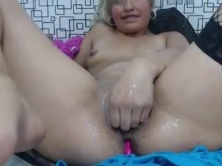 Cougar with bracers knuckles her honeypot fine