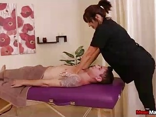 Sexy Mature Masseuse Looks Very Relieving But