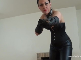 Jail Warden's whipping sizzling Up - lady Bellatrix in cruel female dominance whipping point of view