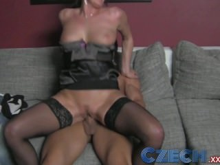 Czech MILF agents tight pussy causes premature problems for stud