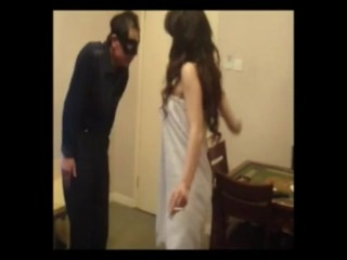 Japanese domme smacking her victim aggressively