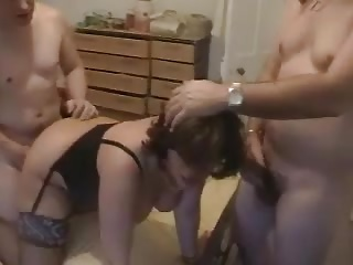 Amateur - Hard Nipple Mature CIM MMF Threesome
