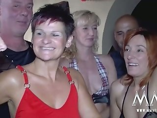 Hot orgy with several cougar chicks
