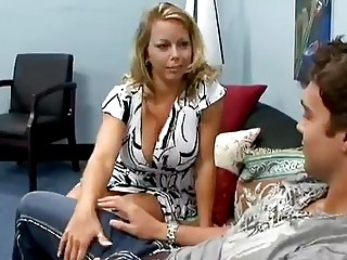 Mom fucks sons friend