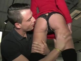 Mature Lyna plowed in front of her aged chief