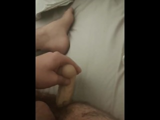 Bicurious tatted stud takes 8 inch fuck-stick deep and wrecks his hole