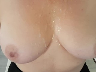 Amature point of view thick spunk load shot on my thick tiities