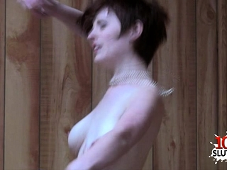 Ginger-haired orgy industry star orgy with jizz shot