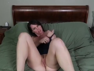 Riley spreads out vagina with monstrous egg!