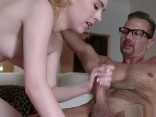 Step-father busts His cock inwards Candy Whites nubile cootchie