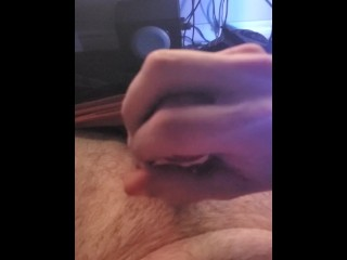 Rapid top view sesh. Leaking spunk as lubricant and incredible spunk shot.