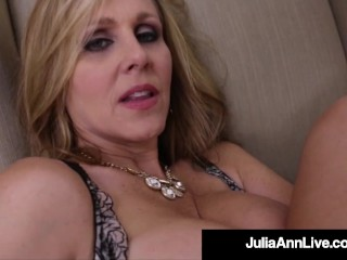 Big-chested honeypot ravaging cougar Julia Ann pounds Her juicy humid Mature mom fuck-hole!