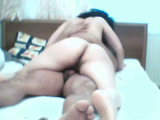 Before riding Turkish hubby on top his wife was fucked from behind