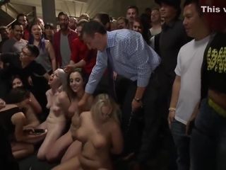 Four subs in public anal group sex