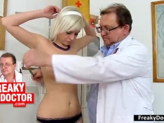 Daphne Klyde machine banged in vicious gynecology polyclinic