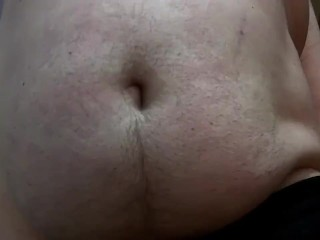 Ball tummy in your face close up pov