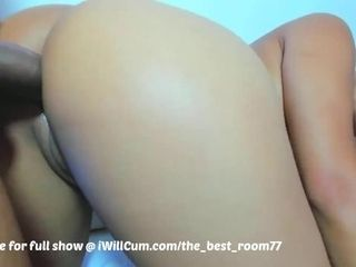 'Big bouncy arse Latina Gets dual Teamed in Both fuck holes and Creampied'