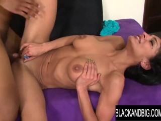 Ebony and gigantic - Iranian superslut Persia Pele Calls a gigantic ebony pink cigar to Help sate Her lust