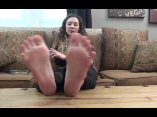 Jules ginormous soles propped up