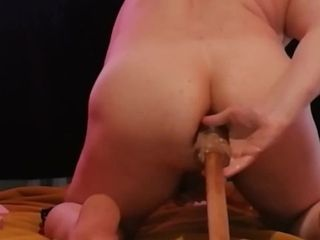 Torment ass-fuck giant monster strap on dildo domination & submission