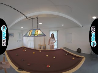 WETVR Billiards taunt Gets Her muff soaked In VR