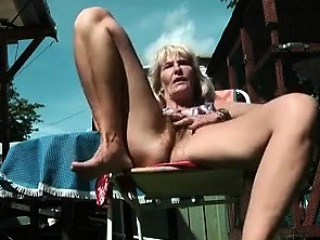 Horn-mad prudish elderly Granny masturbate back youngster shore up steady