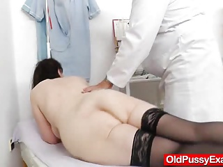 Spiky-looking mature getting a gyno
